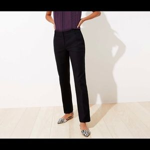 Loft Size 10 Black Straight Leg Pant